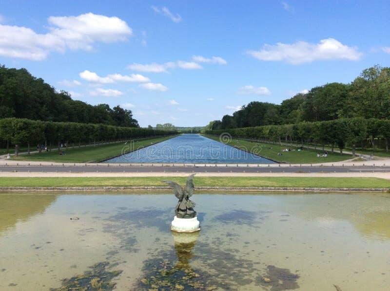 stationnement de palais de Fontainebleau images libres de droits