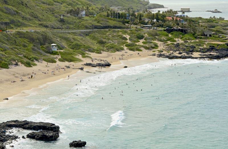 Stationnement de plage de Makapuu photo libre de droits