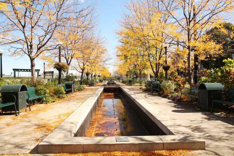 Stationnement de Riverscape à Dayton, Ohio image libre de droits