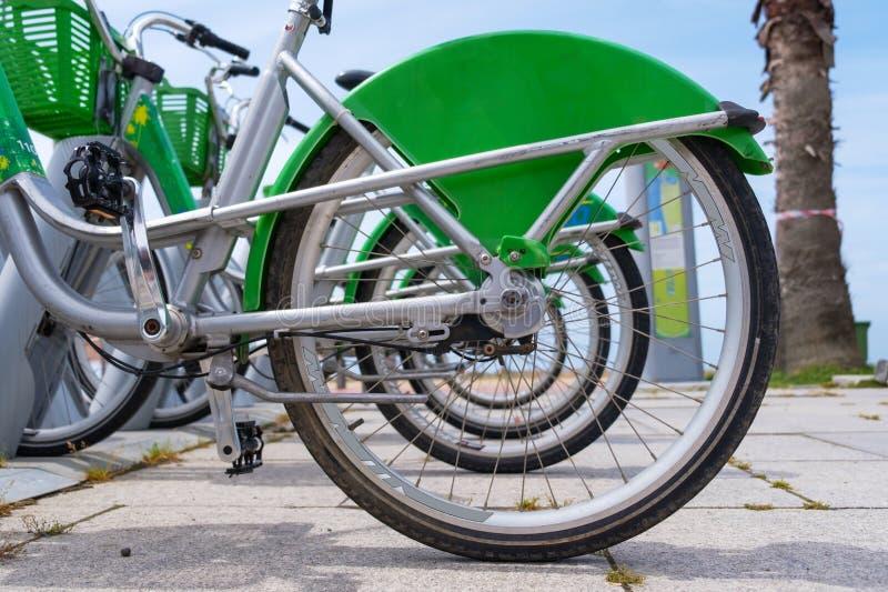 Stationnement de vélo image stock