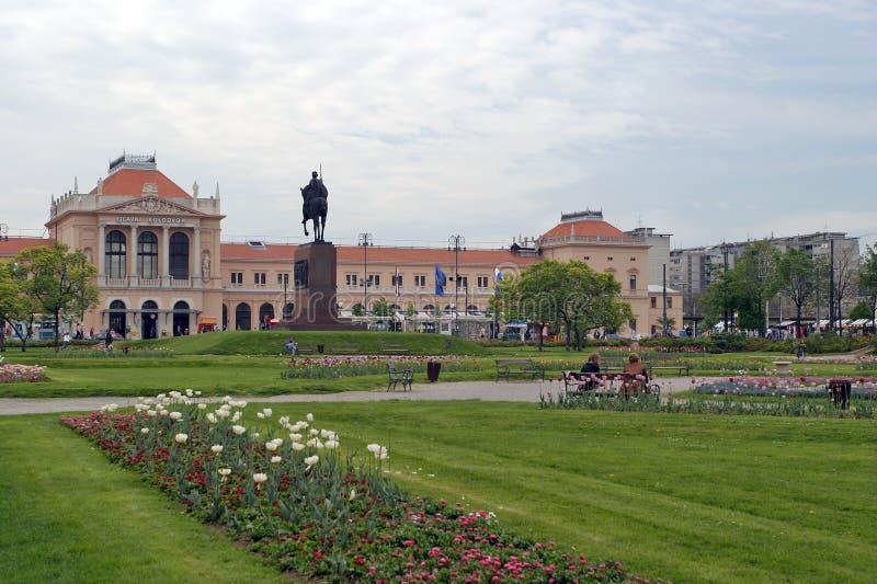 Stationnement de ville à Zagreb image libre de droits