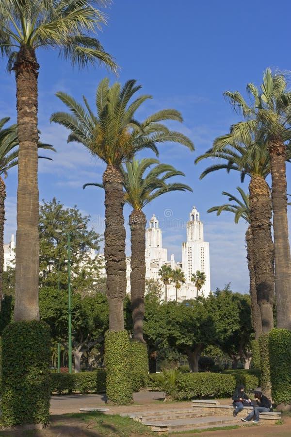 stationnement de ville de Casablanca photo stock