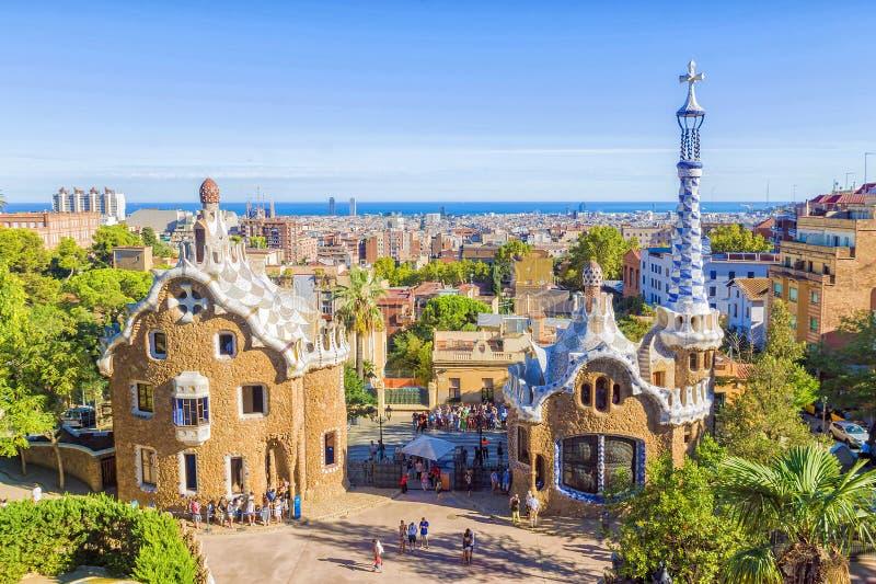 stationnement Espagne de guell de Barcelone image libre de droits