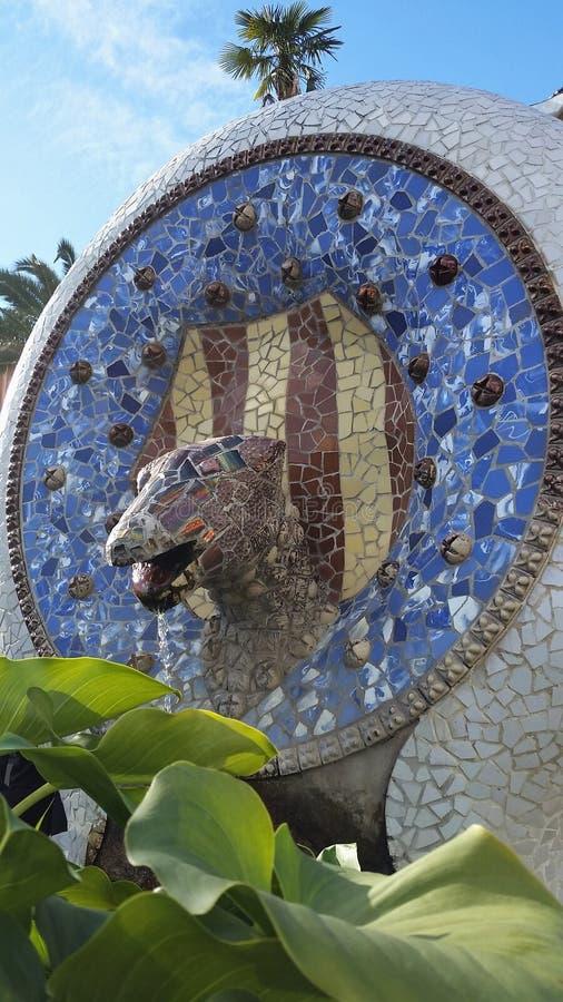 Stationnement Güell, Barcelone image libre de droits