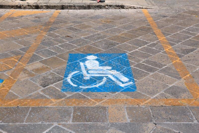 Stationnement handicapé photos stock
