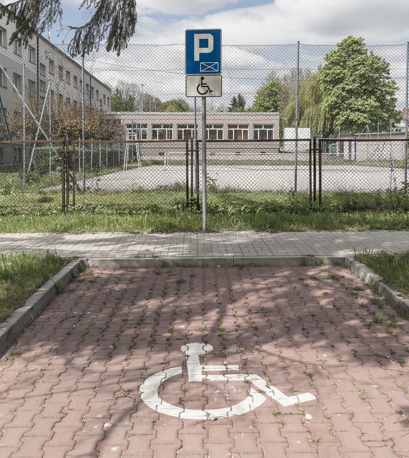 Stationnement handicapé images libres de droits