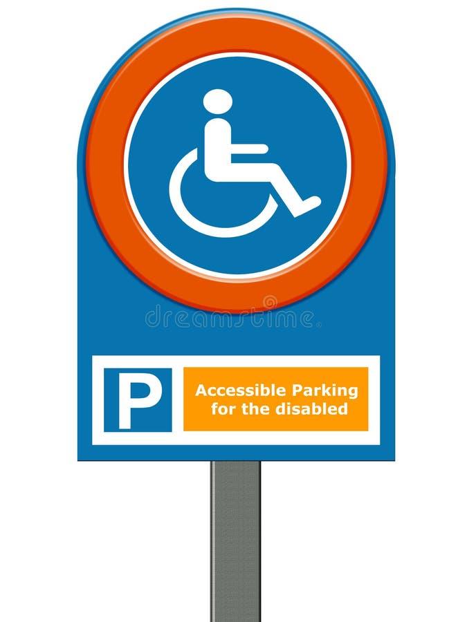Stationnement handicapé illustration de vecteur