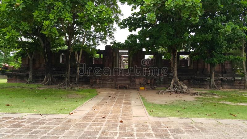 Stationnement historique de Phimai images libres de droits