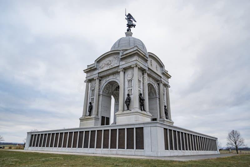 Stationnement militaire national de Gettysburg photos libres de droits