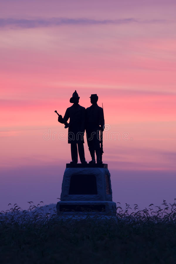 Stationnement militaire national de Gettysburg photo stock