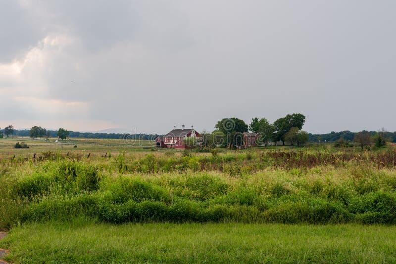 Stationnement militaire national de Gettysburg en Pennsylvanie image stock