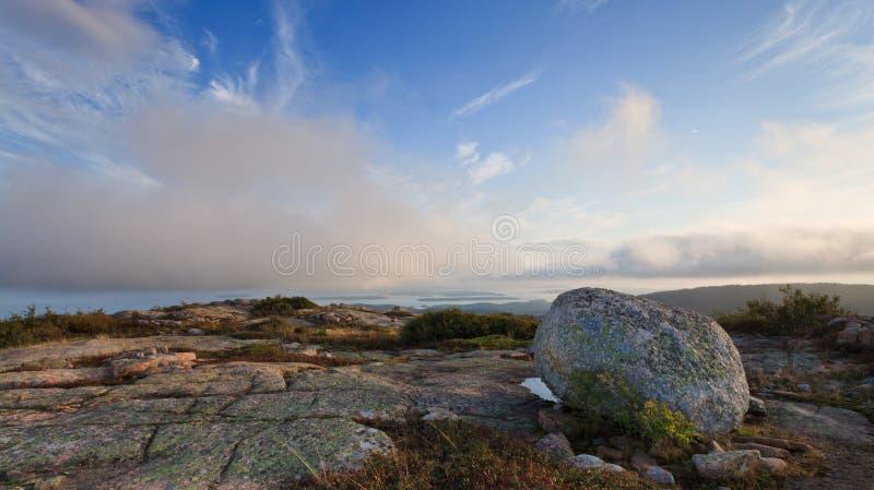 Stationnement national d'Acadia, montagne de Cadillac photographie stock libre de droits