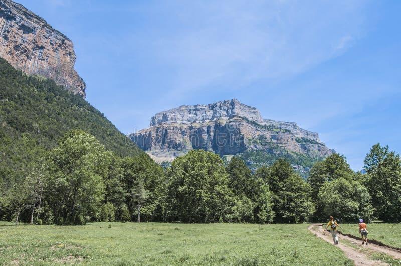 Stationnement national d'Ordesa y Monte Perdido, Espagne images libres de droits