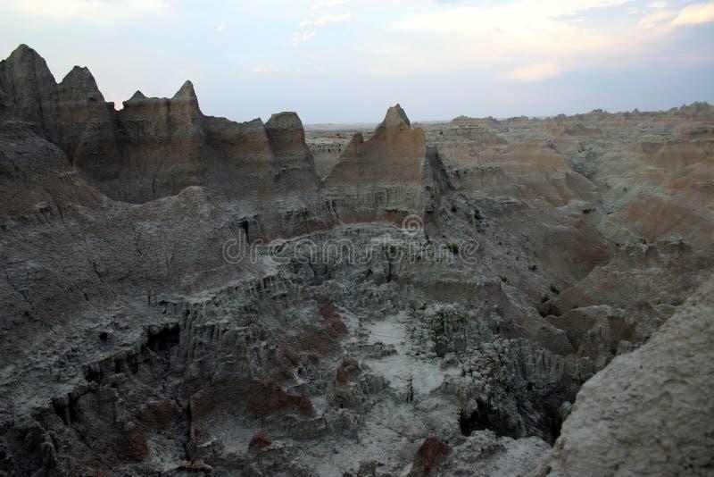 Stationnement national de bad-lands photos libres de droits