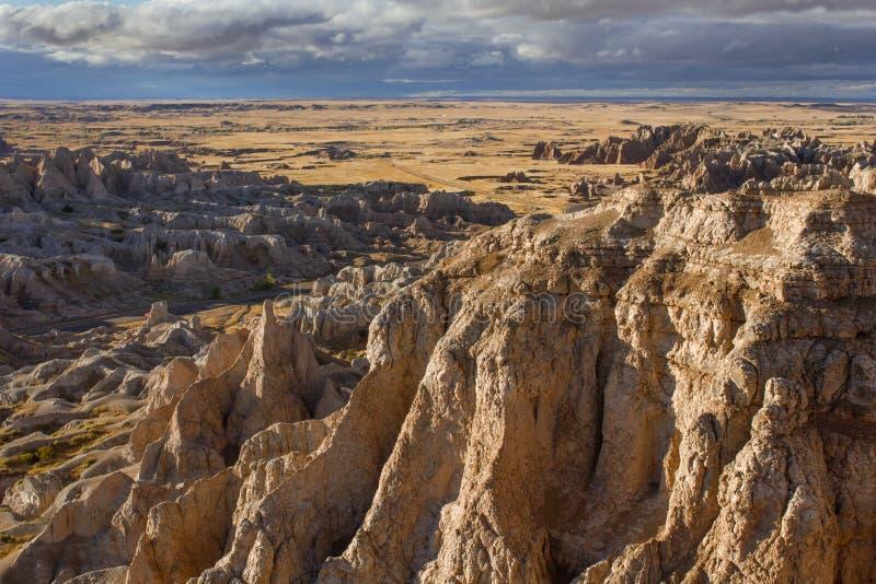Stationnement national de bad-lands dans le Dakota du Sud photos stock