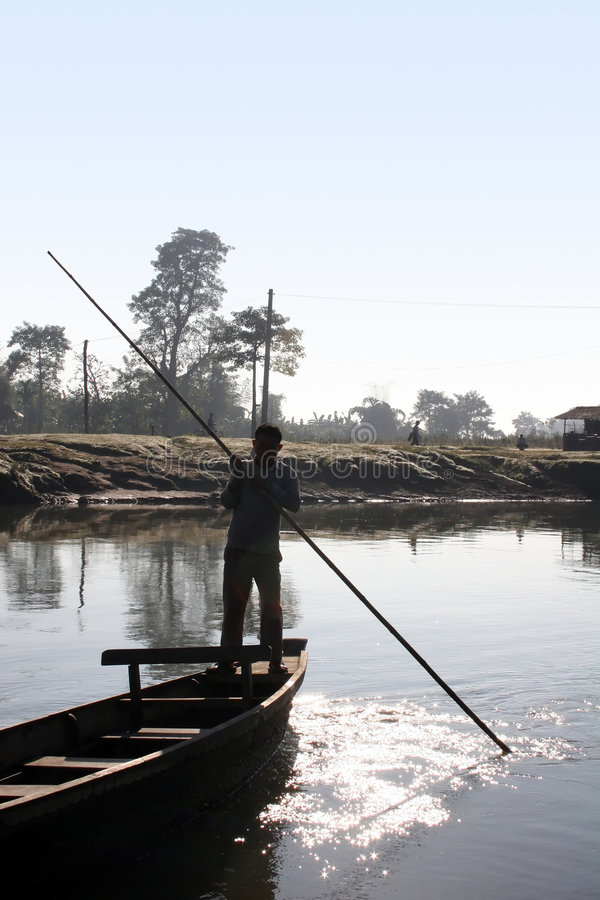 Stationnement national de Chitwan - Népal images libres de droits