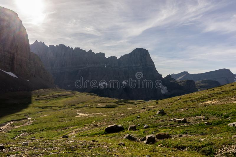 Stationnement national de glacier, Montana Pris une montée de Mt Siyeh photo stock