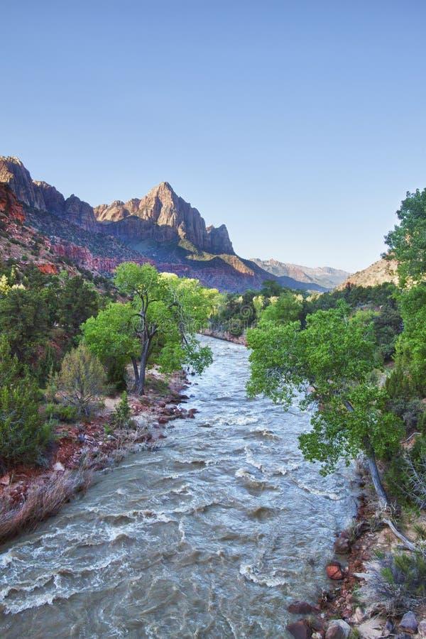 Stationnement national de gorge de Zion, Utah image stock