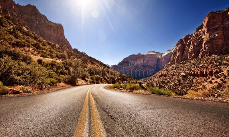 Stationnement national de gorge de Zion, Utah photographie stock