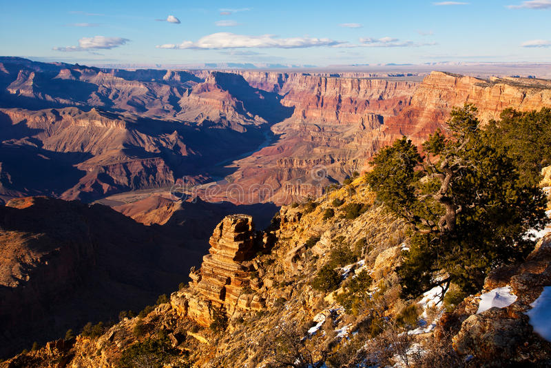 Stationnement national de gorge grande de vue de désert images libres de droits
