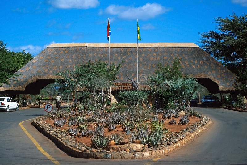 Stationnement national de Kruger, porte de Malelane image stock