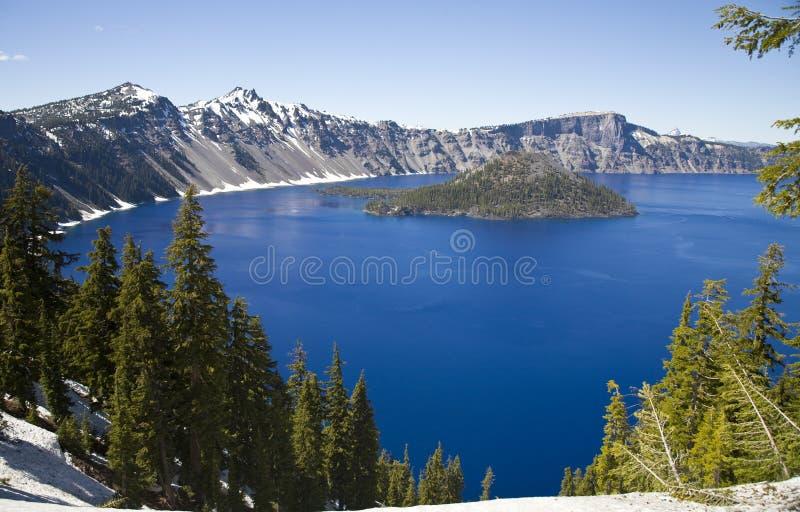 Stationnement national de lac crater image libre de droits