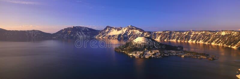 Stationnement national de lac crater photos stock