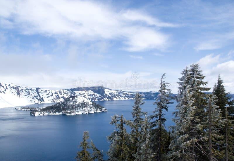 stationnement national de lac de cratère images libres de droits