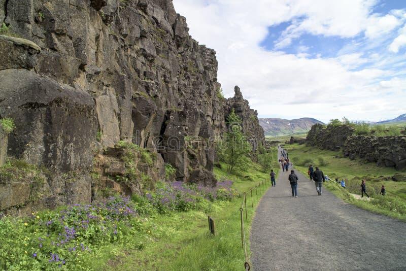 Stationnement national de Pingvellir, Islande images libres de droits