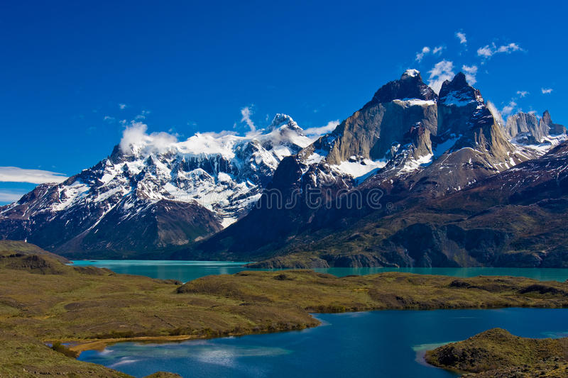 Stationnement national de Torres del Paine images libres de droits