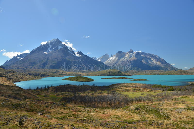 Stationnement national de Torres del Paine - lac Pehoe photos libres de droits