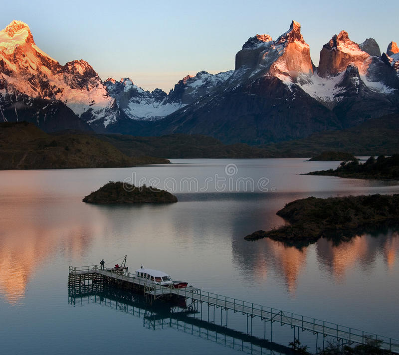 Stationnement national de Torres del Paine - Patagonia images stock