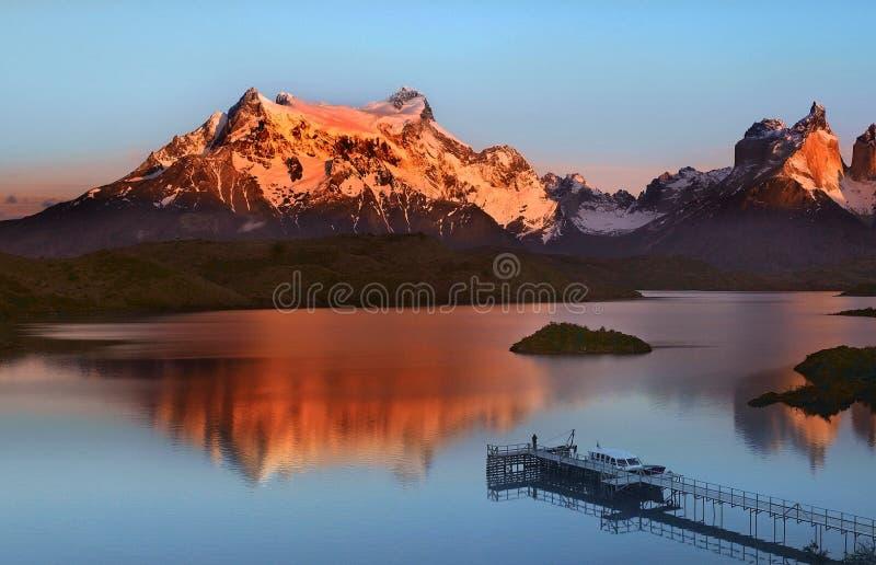 Stationnement national de Torres del Paine - Patagonia images libres de droits