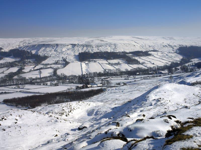 Stationnement national de vallées de Yorkshire - Angleterre image stock