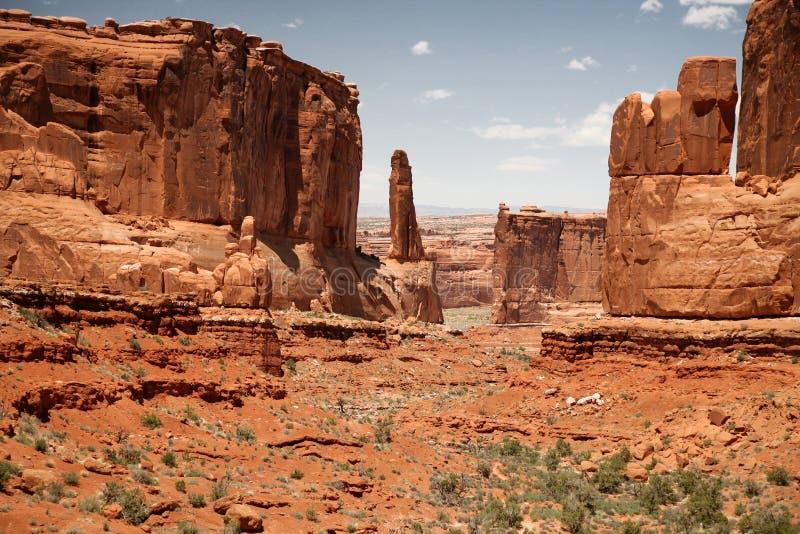 Stationnement national de voûtes en Utah, Etats-Unis photographie stock libre de droits