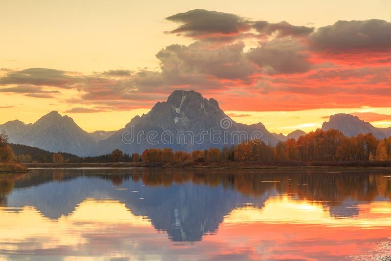 Stationnement national grand de Teton en automne images stock