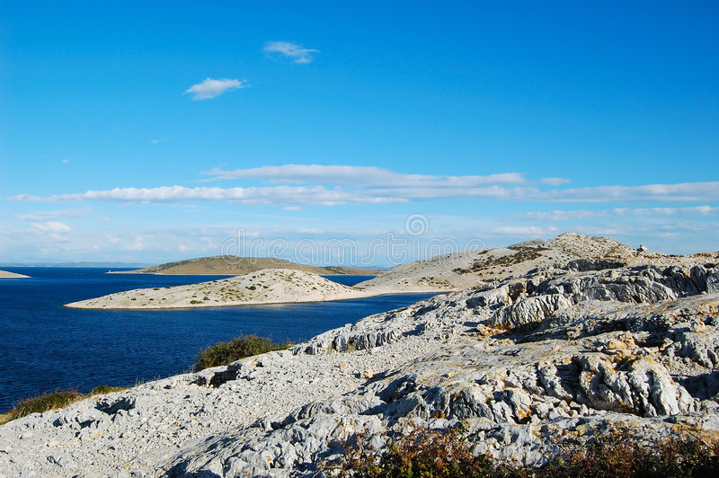 Stationnement national Kornati photo libre de droits