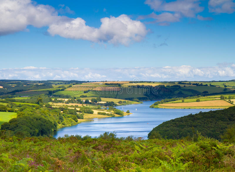 Stationnement national Somerset d'Exmoor de lac Wimbleball photos stock
