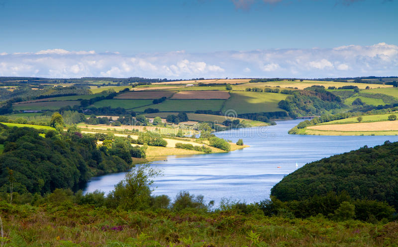 Stationnement national Somerset d'Exmoor de lac Wimbleball photographie stock