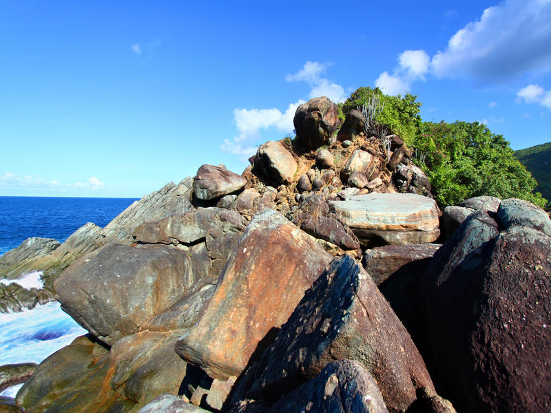 Stationnement national Tortola de baie de requin images stock