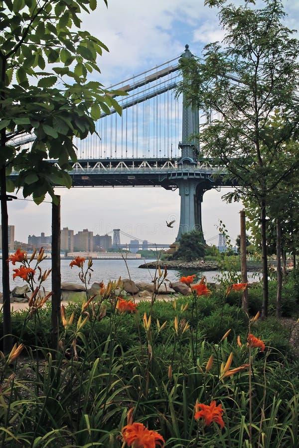 Stationnement New York de passerelle de Brooklyn photos stock