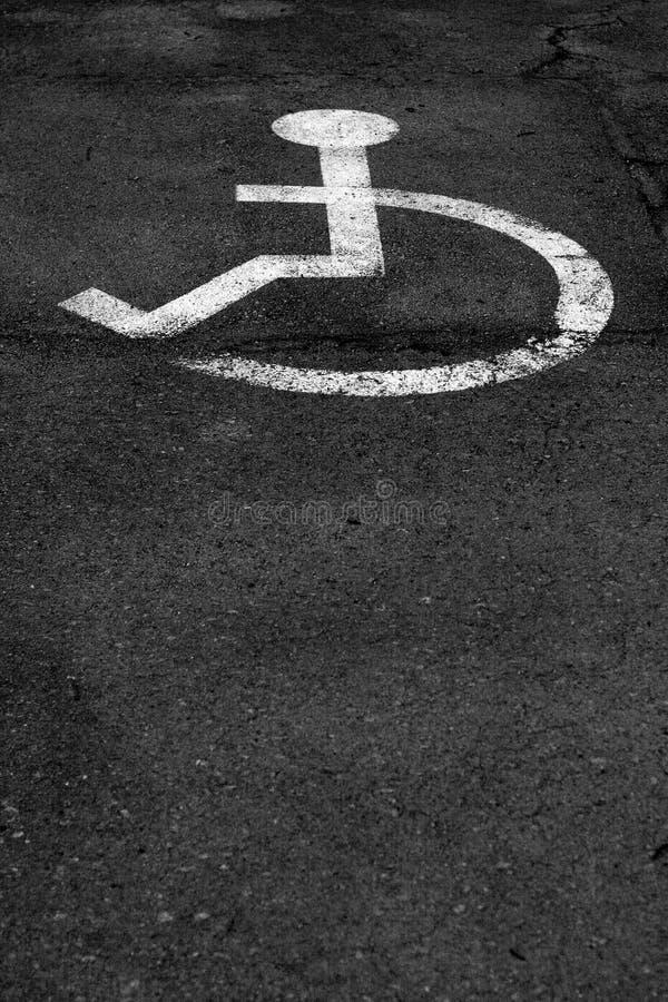 Stationnement pour des handicapés image libre de droits