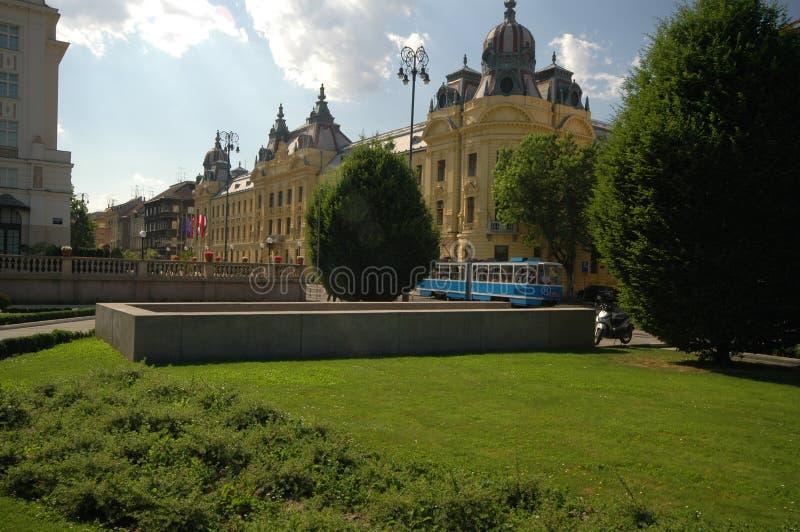 Stationnement Zagreb Croatie images libres de droits