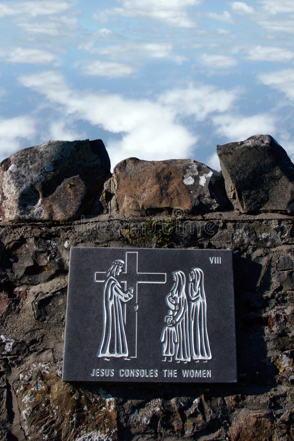Stations of the cross. A depiction of the journey of jesus royalty free stock photography