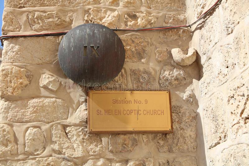 Stations Of The Cross in Via Dolorosa. Jerusalem royalty free stock images
