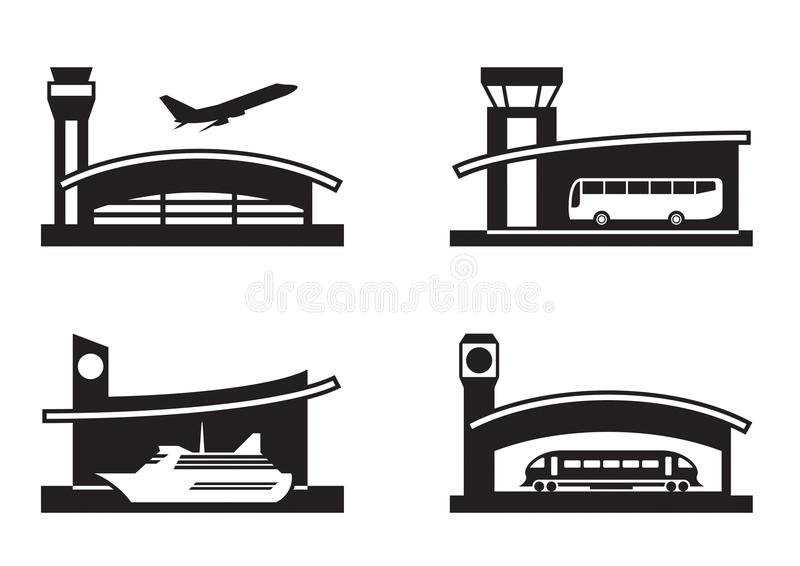 Stations Of Public Transport Royalty Free Stock Photos