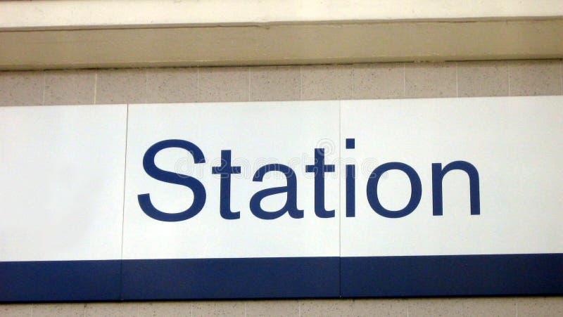 Stations-Zeichen stockbilder