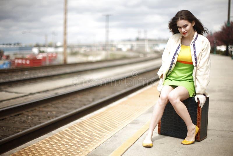 stationsdrevkvinna royaltyfria foton