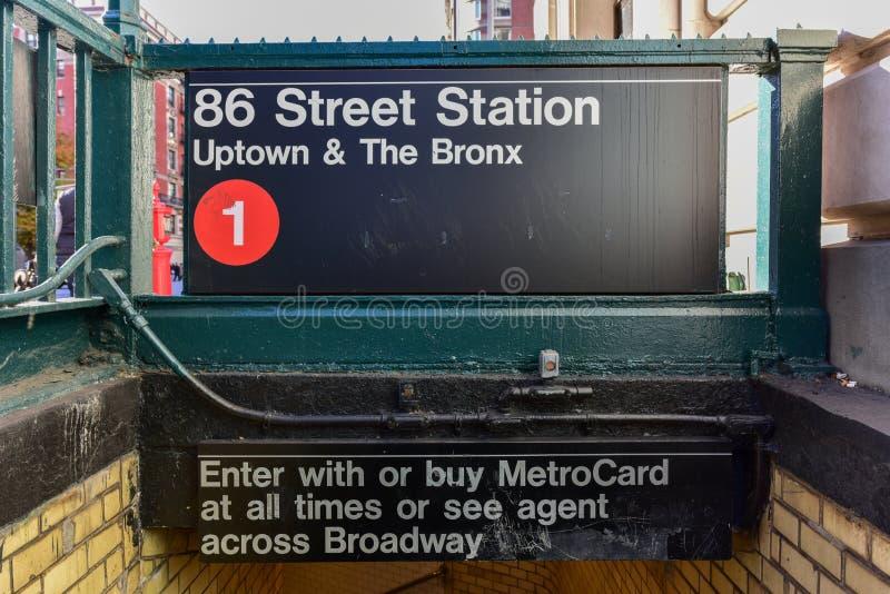 Stationsgångtunnel för 86 gata - NYC royaltyfria bilder