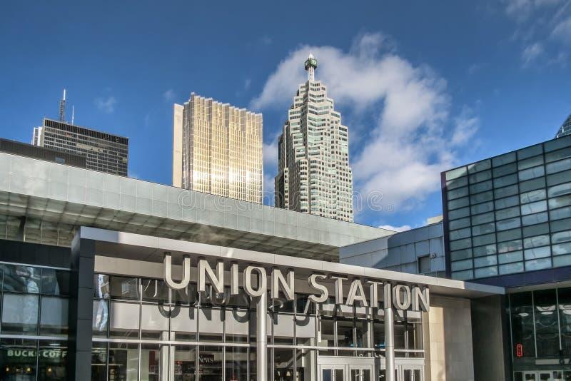 stationstoronto union royaltyfria foton